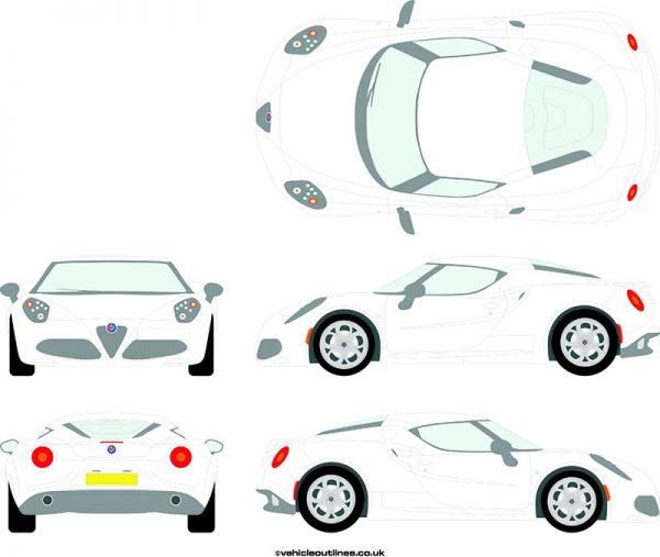 Cars Alfa Romeo 4C 2013-21
