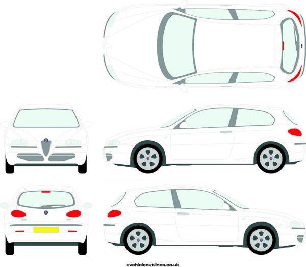 Cars Alfa Romeo 147 2001-09