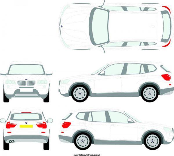4x4 BMW X3 2011-18
