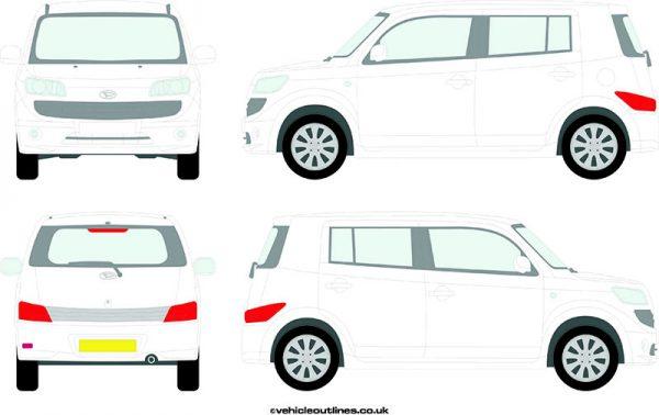Cars Daihatsu Materia 2007-10