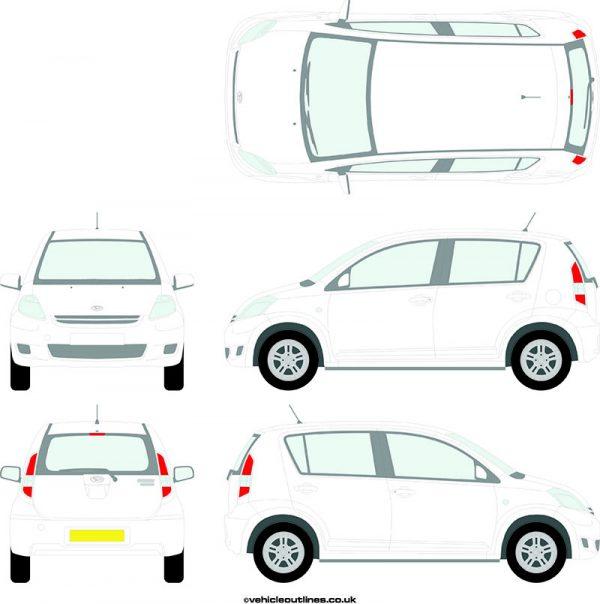 Cars Daihatsu Sirion 2008-10