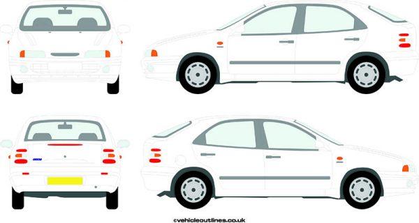 Cars Fiat Brava 1995-2000