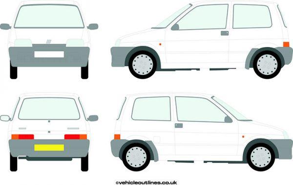 Cars Fiat Cinquecento 1993-98