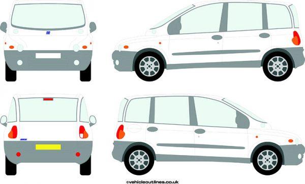 Cars Fiat Multipla 1999-2004