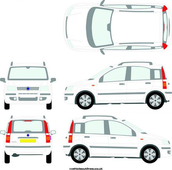 Cars Fiat Panda 2004-10