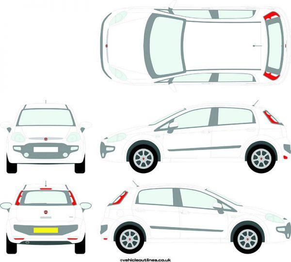 Cars Fiat Punto 2009-12