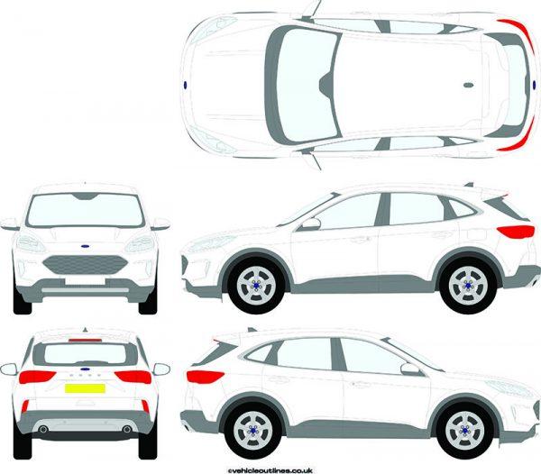 4x4 Ford Kuga 2020-21