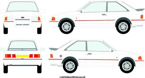 Cars Ford Escort 1986-91