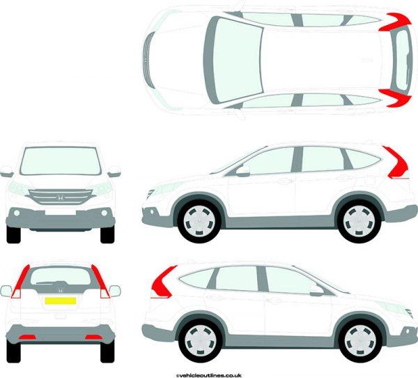 4x4 Honda CRV 2012-15