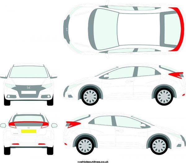 Cars Honda Civic 2012-17