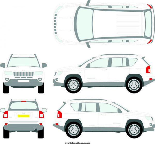 4x4 Jeep Compass 2011-16