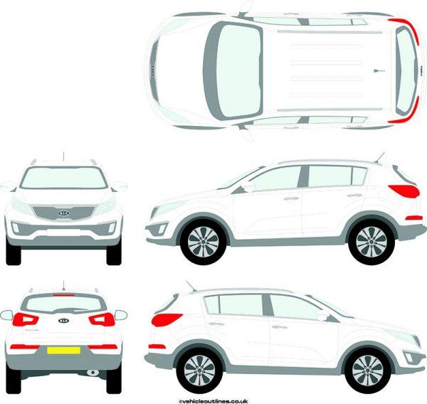 4x4 Kia Sportage 2010-15
