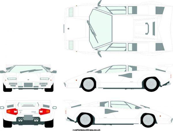 Cars Lamborghini Countach 1985-90