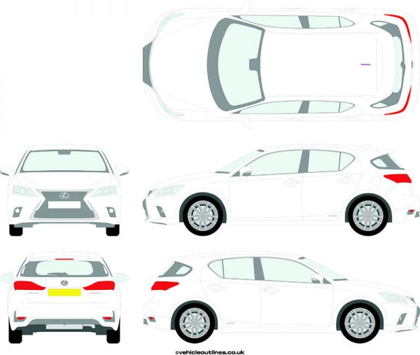 Cars Lexus CT200h 2014-21