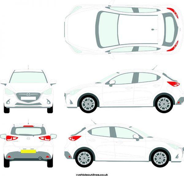 Cars Mazda 2 2015-21