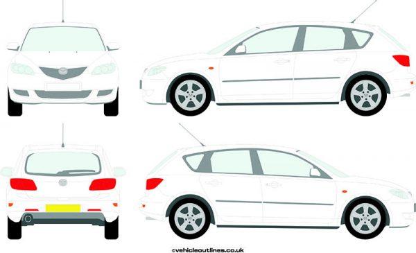 Cars Mazda 3 2004-06