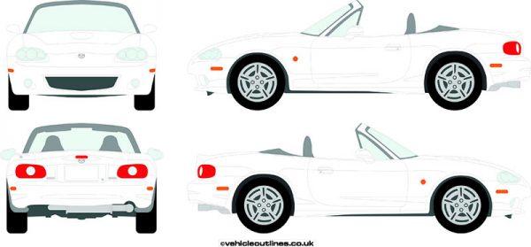 Cars Mazda MX5 1998-2005