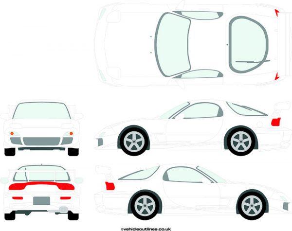 Cars Mazda RX7 1991-2002