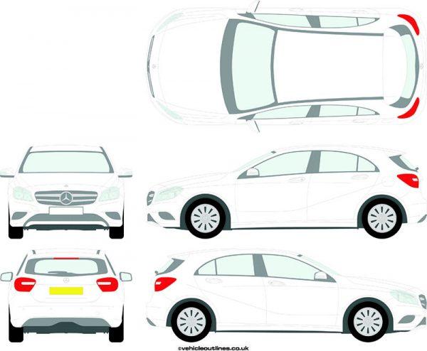 Cars Mercedes A-Class 2012-15