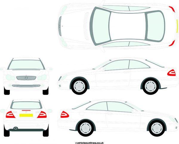 Cars Mercedes CLK 2003-09