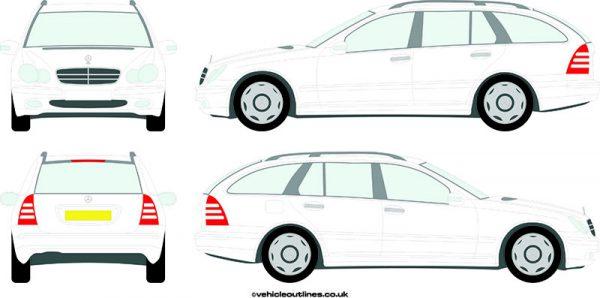 Cars Mercedes C-Class 2001-06