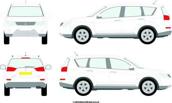4x4 Mitsubishi Outlander 2007-12