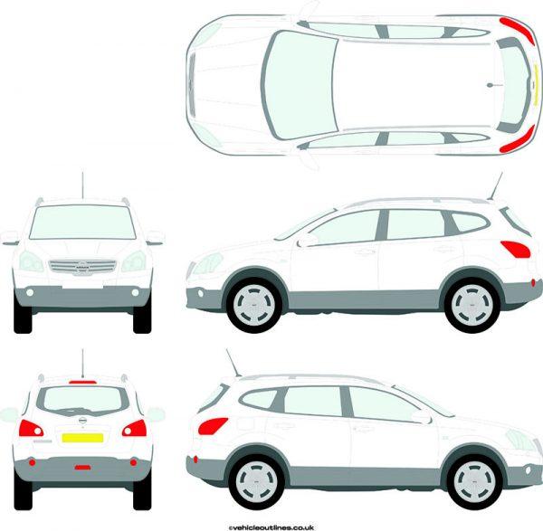 4x4 Nissan Qashqai 2008-14