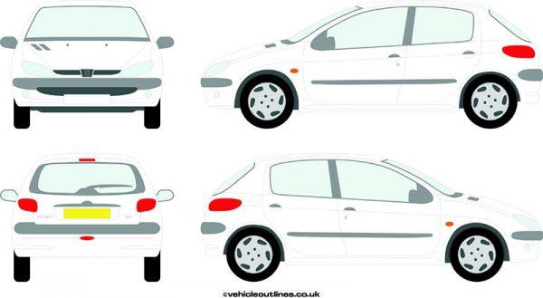 Cars Peugeot 206 1998-2006