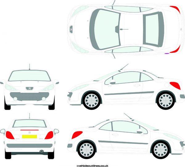 Cars Peugeot 207cc 2007-10
