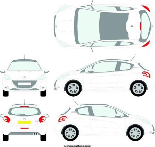 Cars Peugeot 208 2012-19