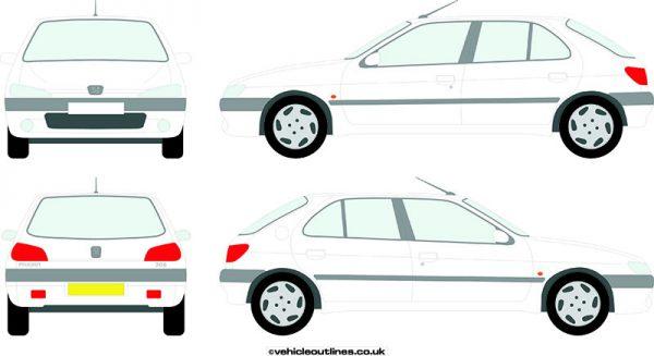 Cars Peugeot 306 1993-99