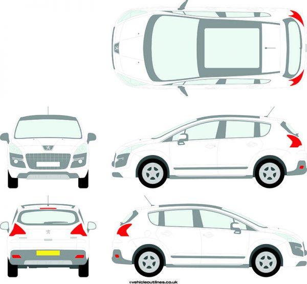 Cars Peugeot 3008 2009-17