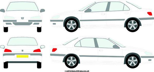 Cars Peugeot 406 1996-2004
