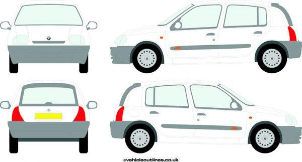 Cars Renault Clio 1998-2001