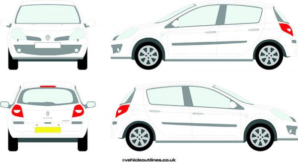Cars Renault Clio 2005-09