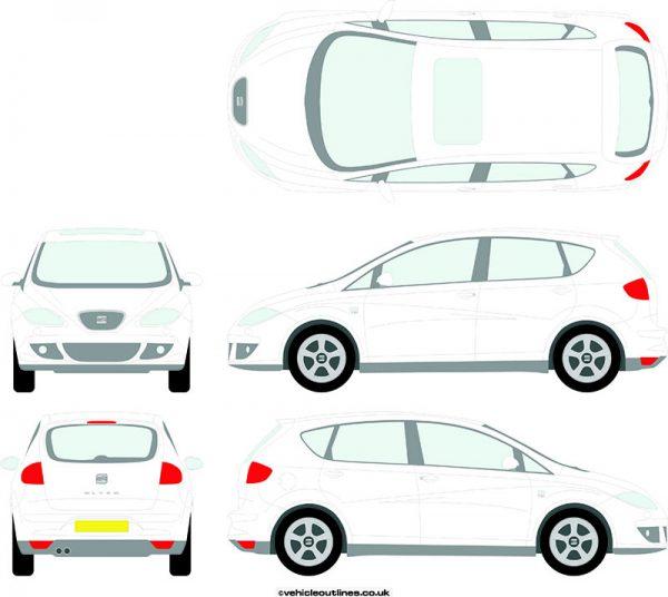 Cars Seat Altea 2004-15