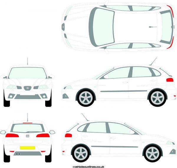 Cars Seat Ibiza 2006-08