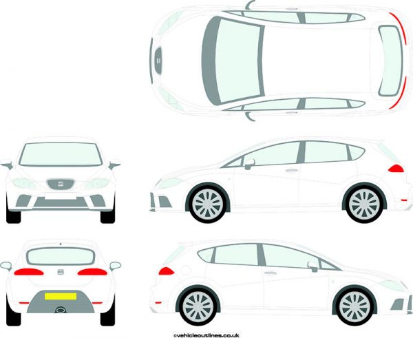 Cars Seat Leon 2006-12