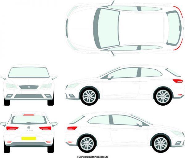 Cars Seat Leon 2013-17