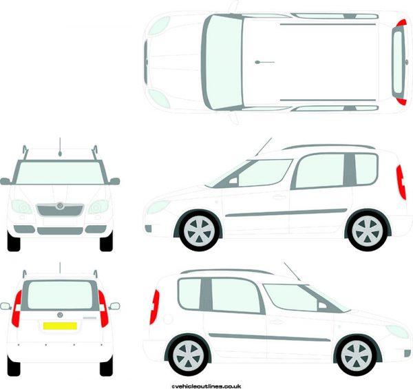 Cars Skoda Roomster 2006-12