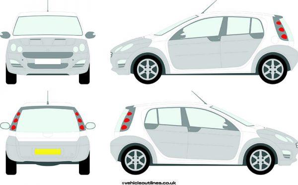 Cars Smart Car ForFour 2004-06