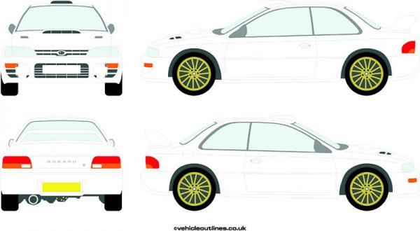 Cars Subaru Impreza 1993-2000