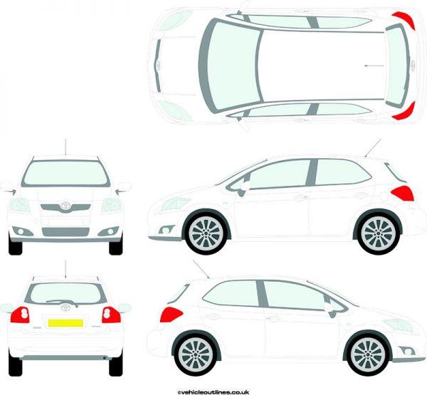 Cars Toyota Auris 2007-12