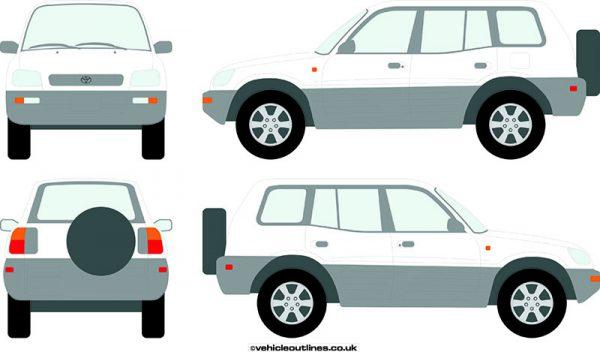 4x4 Toyota RAV4 1994-2000