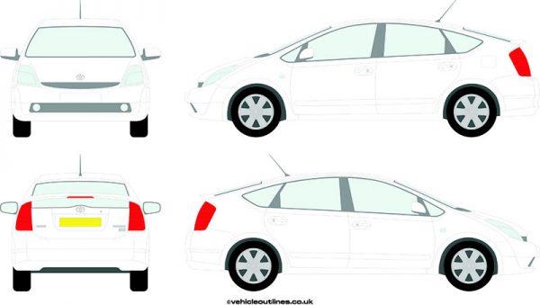 Cars Toyota Prius 2004-09