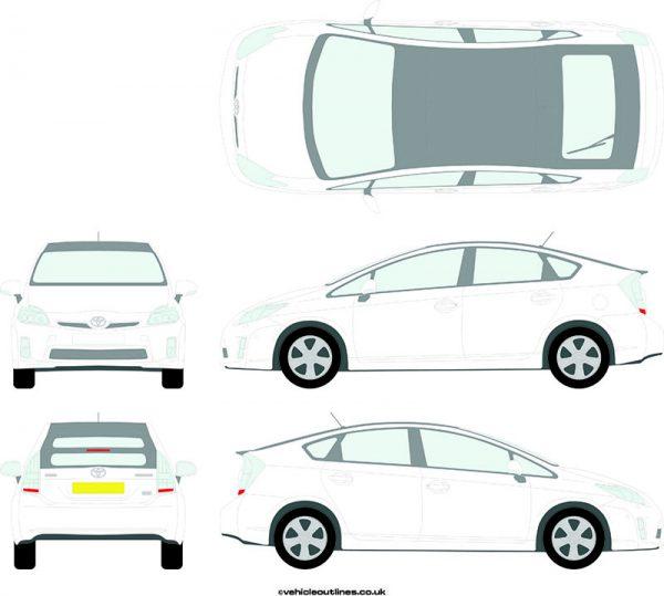 Cars Toyota Prius 2009-16