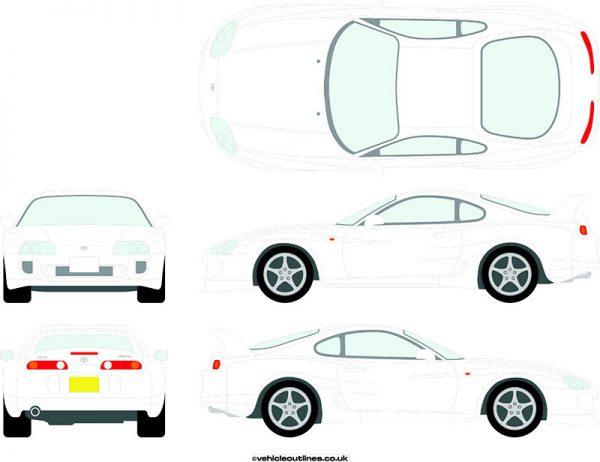 Cars Toyota Supra 1993-96