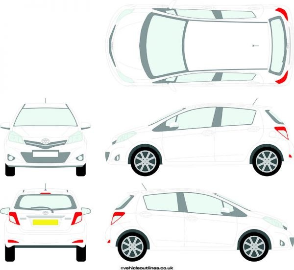 Cars Toyota Yaris 2011-14