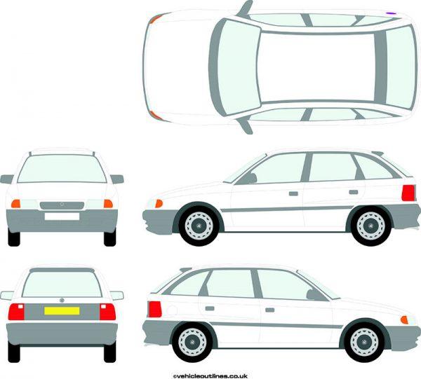 Cars Vauxhall Astra 1991-98