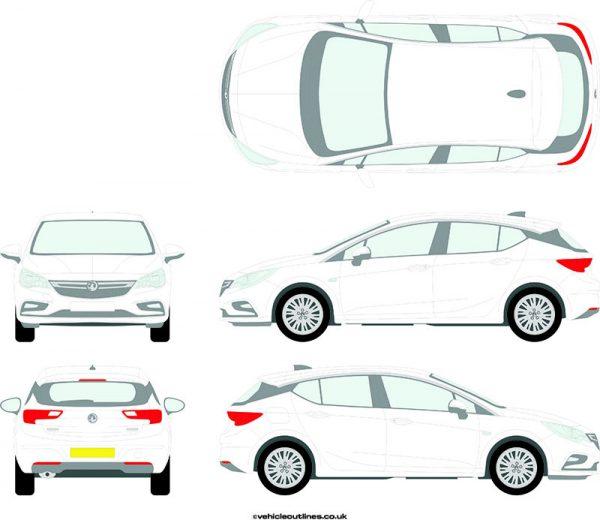 Cars Vauxhall Astra 2015-21